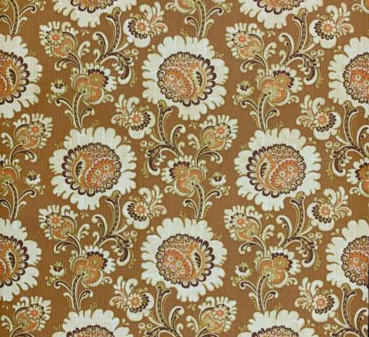 Vintage gold floral wallpaper