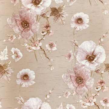 Vintage Romantic Floral Wallpaper