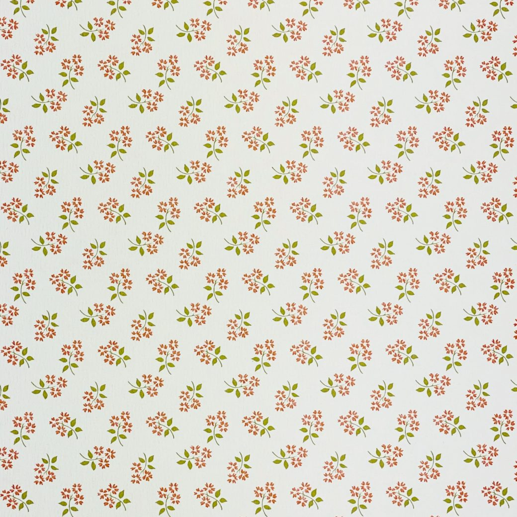 Vintage Small Pattern Floral Wallpaper4