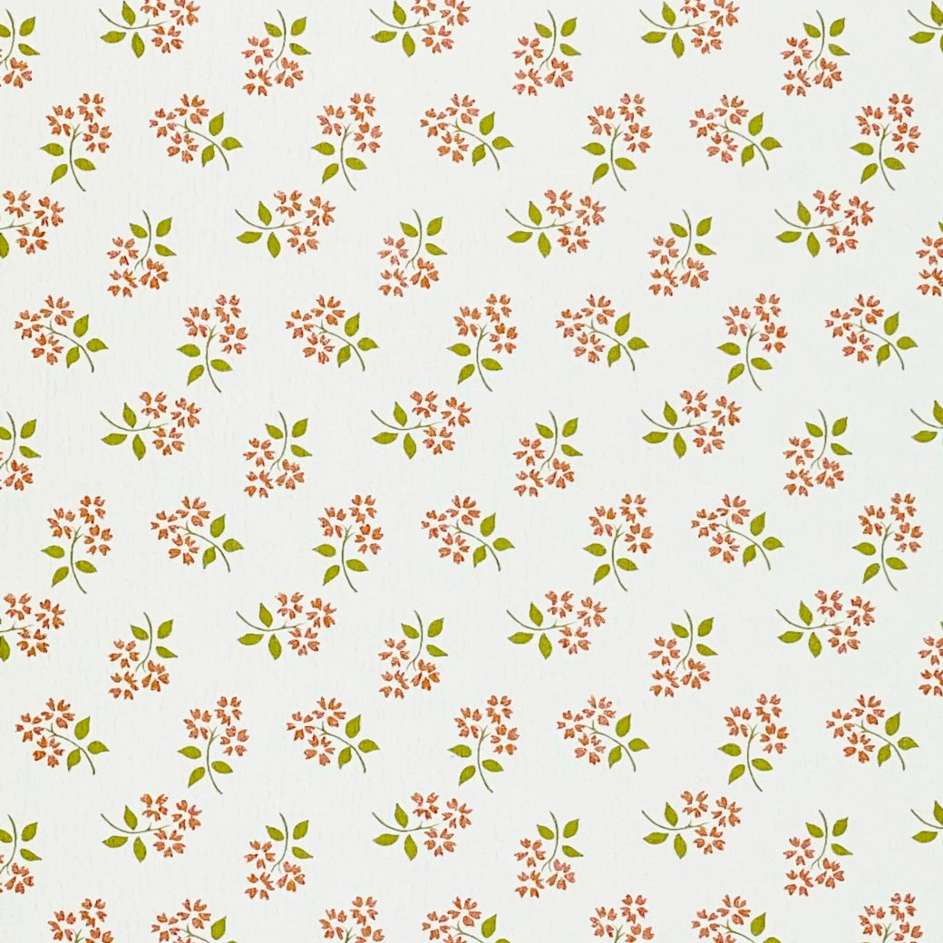 Vintage Small Pattern Floral Wallpaper6
