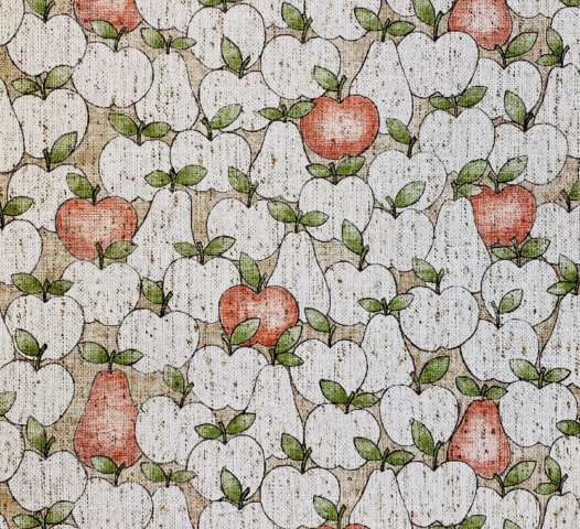 Vintage Theme Wallpaper With Apples and Pears 1