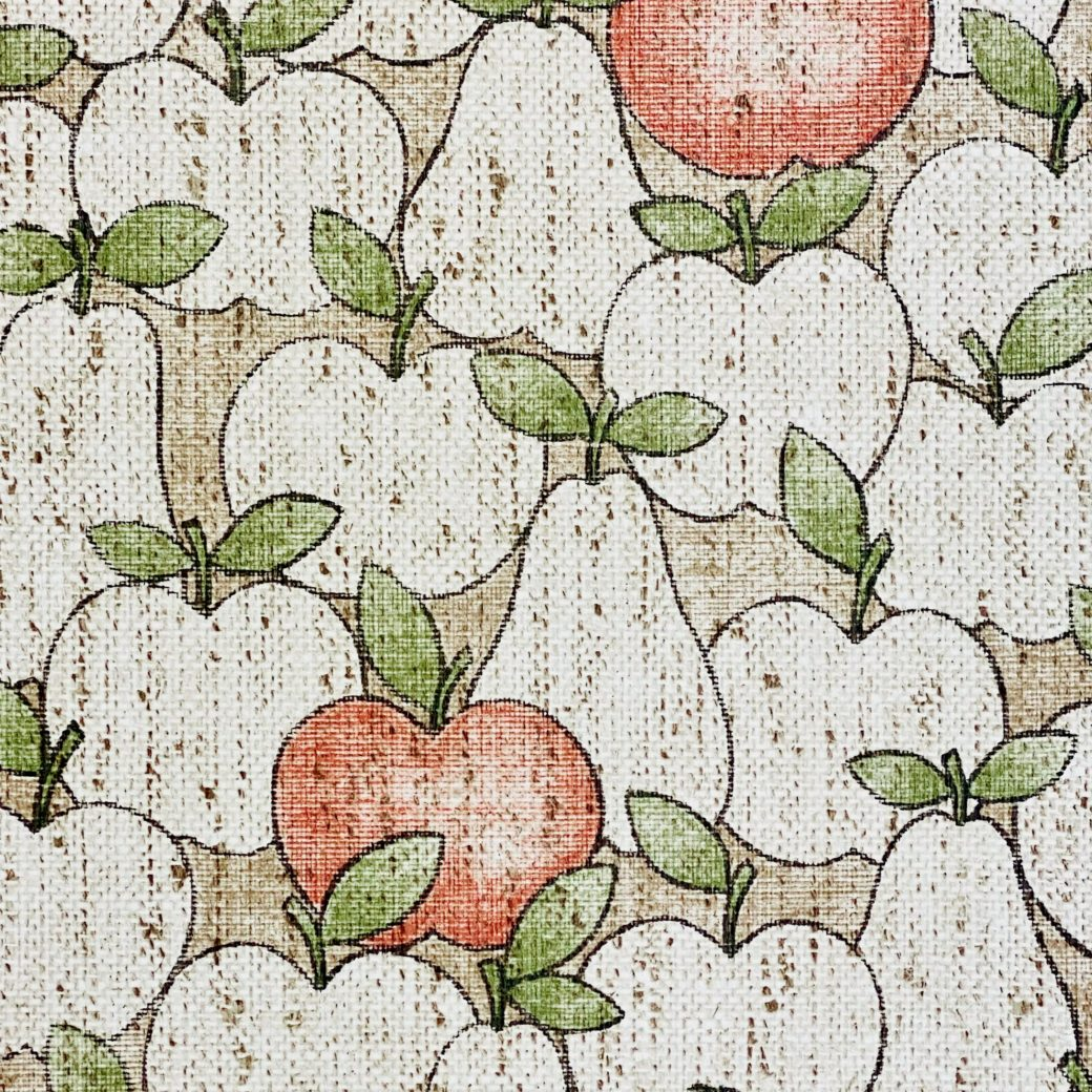 Vintage Theme Wallpaper With Apples and Pears 6