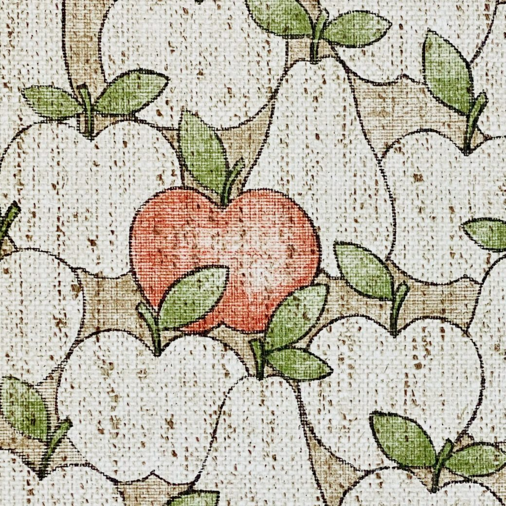 Vintage Theme Wallpaper With Apples and Pears 7