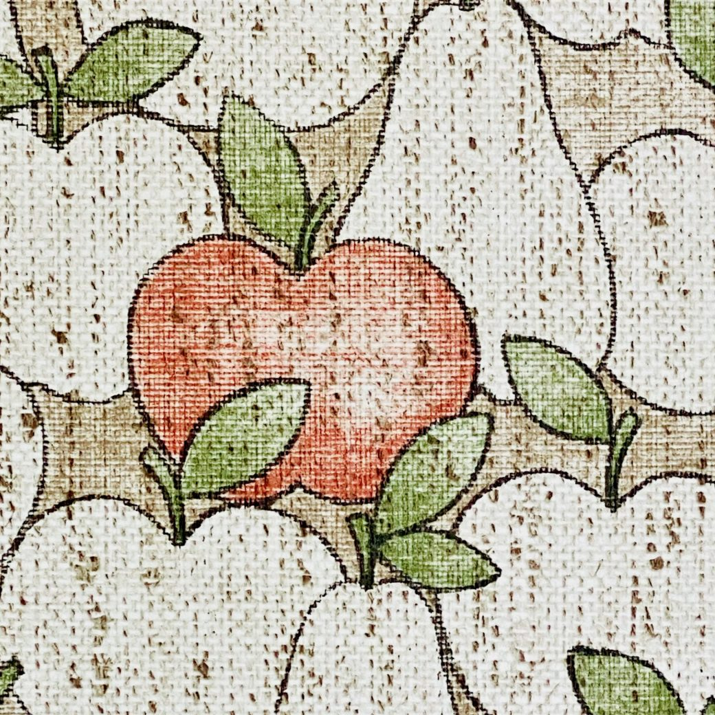 Vintage Theme Wallpaper With Apples and Pears 8