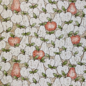 Vintage Theme Wallpaper With Apples and Pears 2