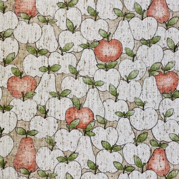 Vintage Theme Wallpaper With Apples and Pears 3