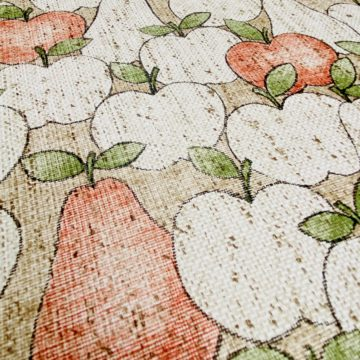 Vintage Theme Wallpaper With Apples and Pears 9