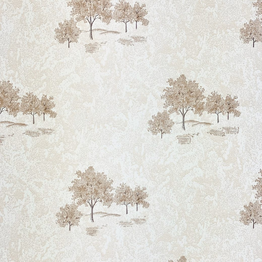Vintage Theme Wallpaper with Trees 4
