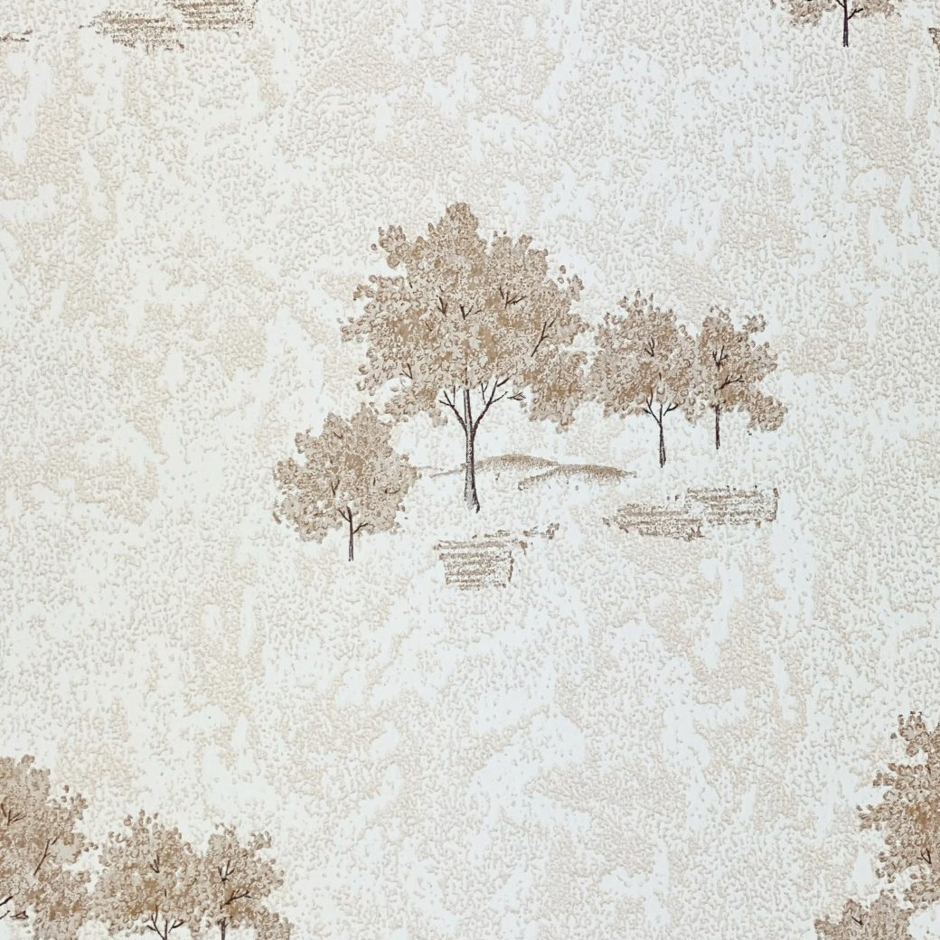Vintage Theme Wallpaper with Trees 6