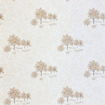Vintage Theme Wallpaper with Trees 1