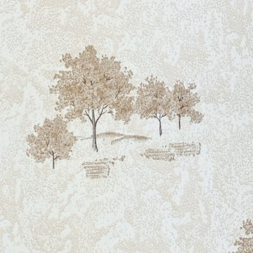 Vintage Theme Wallpaper with Trees 7