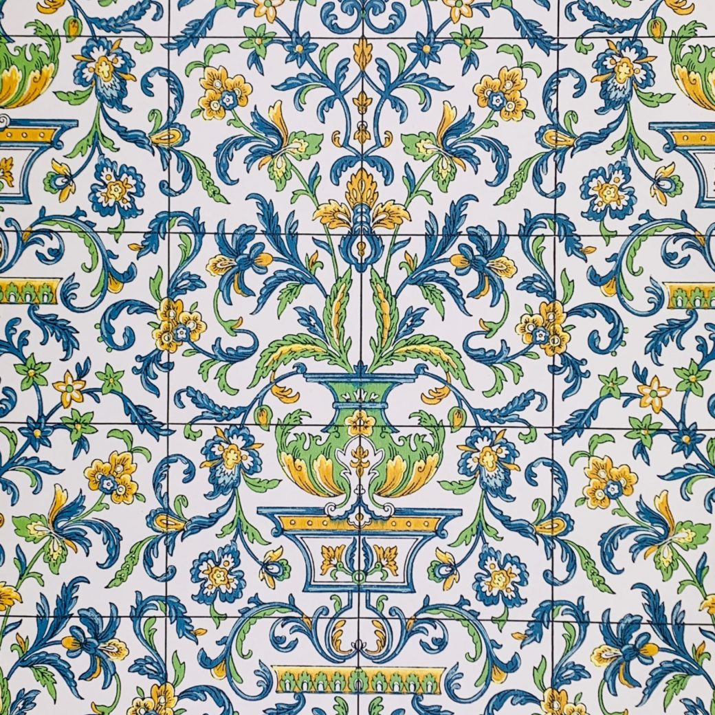 Vintage tile wallpaper