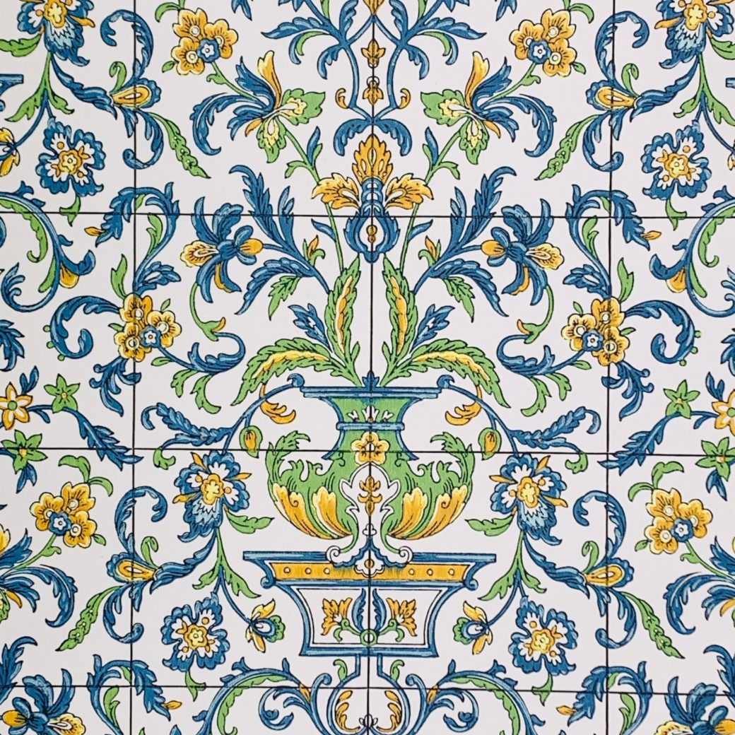 Vintage tile wallpaper 1