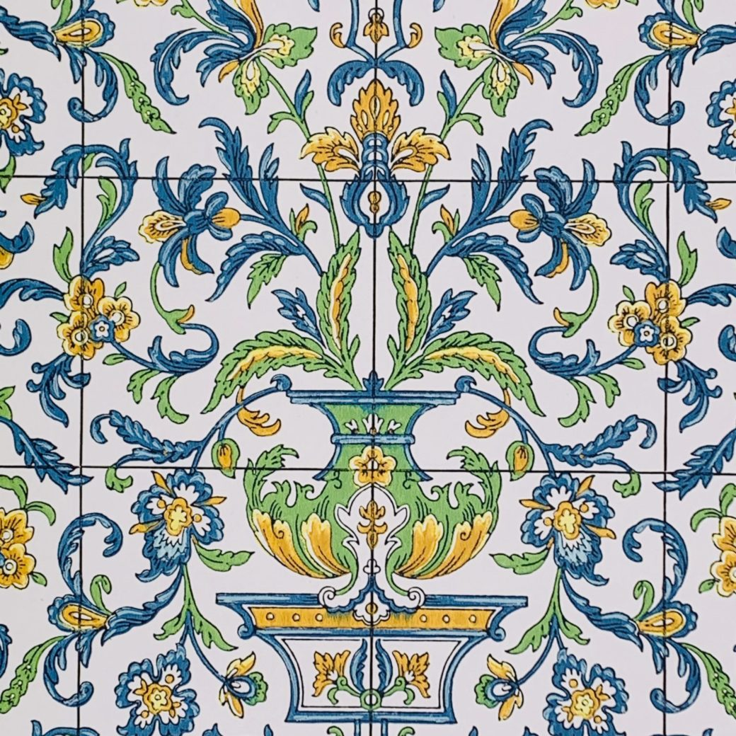 Vintage tile wallpaper 2