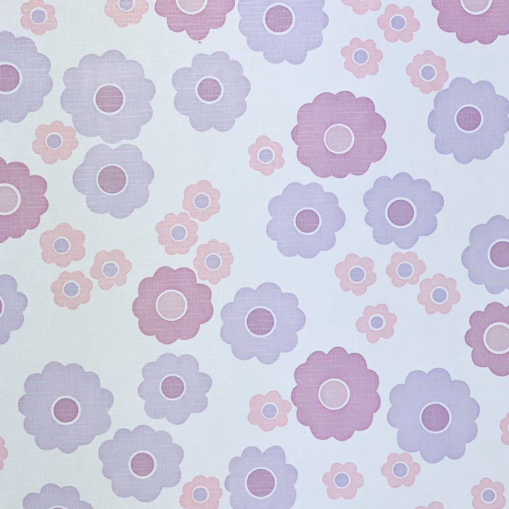 Vintage Wallpaper with Pink and Purple Flowers 7