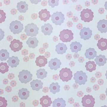 Vintage Wallpaper with Pink and Purple Flowers 5
