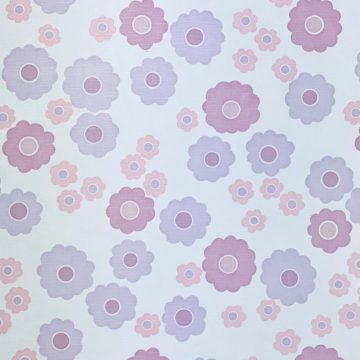 Vintage Wallpaper with Pink and Purple Flowers 6
