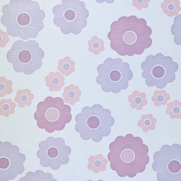Vintage Wallpaper with Pink and Purple Flowers 8