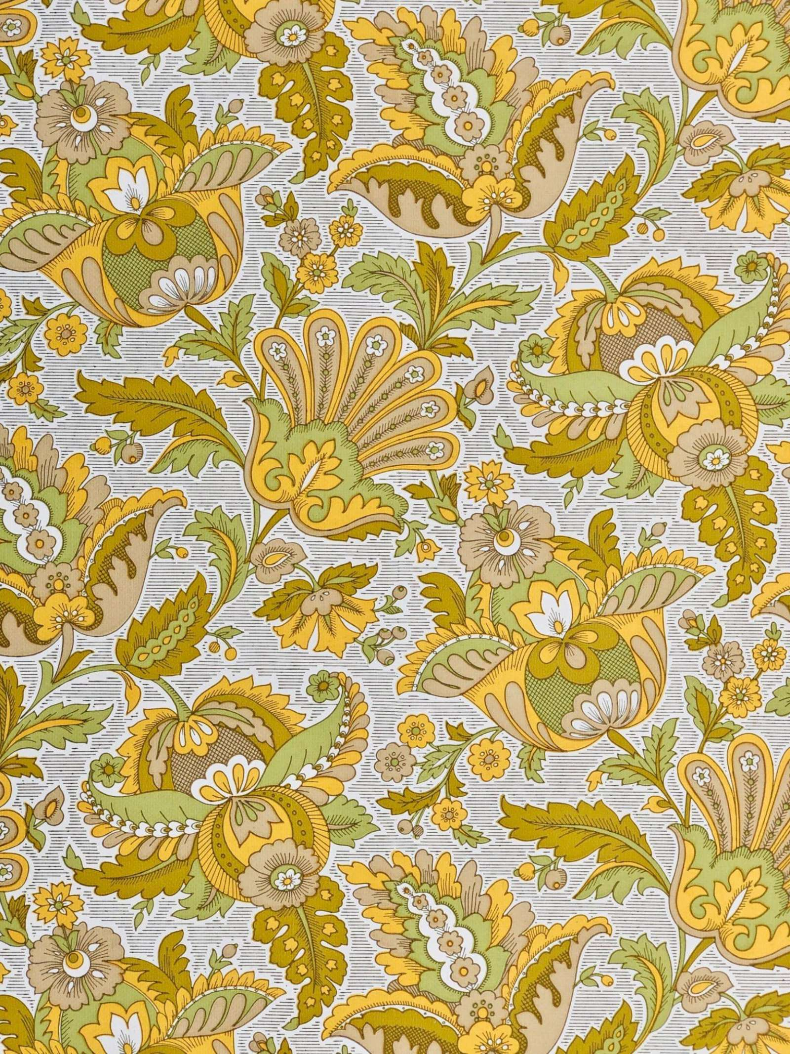 Vintage Wallpapers Online Shop Vintage Yellow Floral Wallpaper