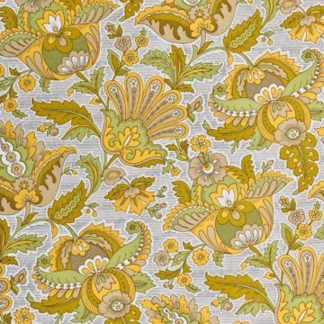 Vintage yellow floral wallpaper 4