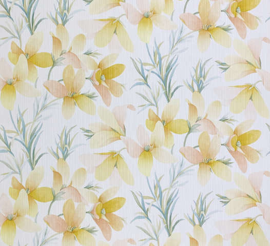 Vintage Yellow Flower Wallpaper