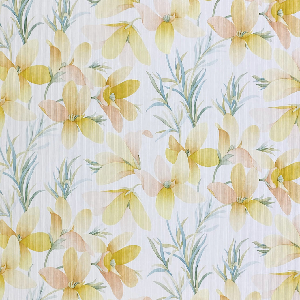 Vintage Yellow Flower Wallpaper 1