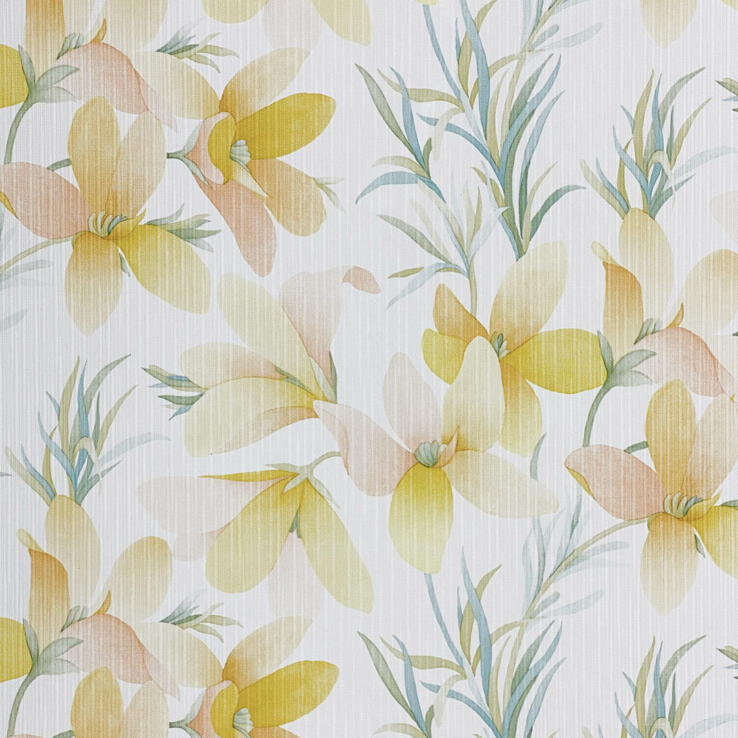 Vintage Yellow Flower Wallpaper 3