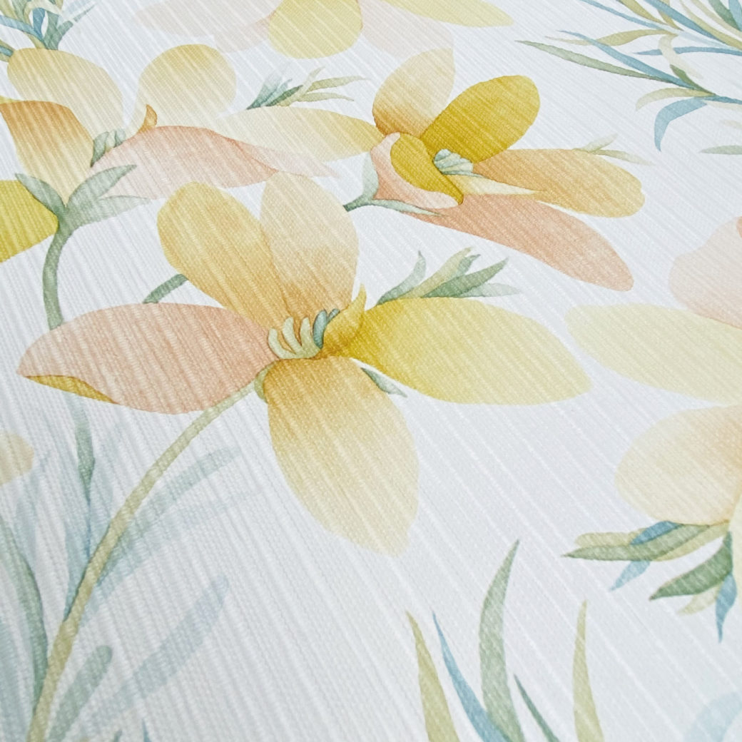 Vintage Yellow Flower Wallpaper 5