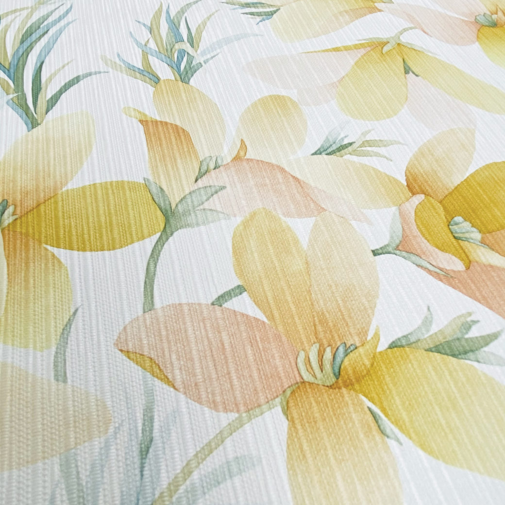 Vintage Yellow Flower Wallpaper 6