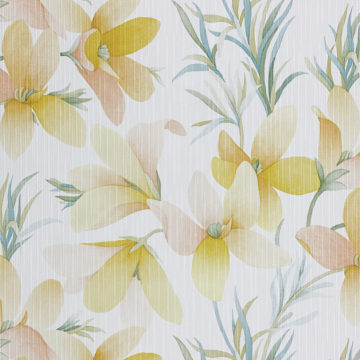 Vintage Yellow Flower Wallpaper 4