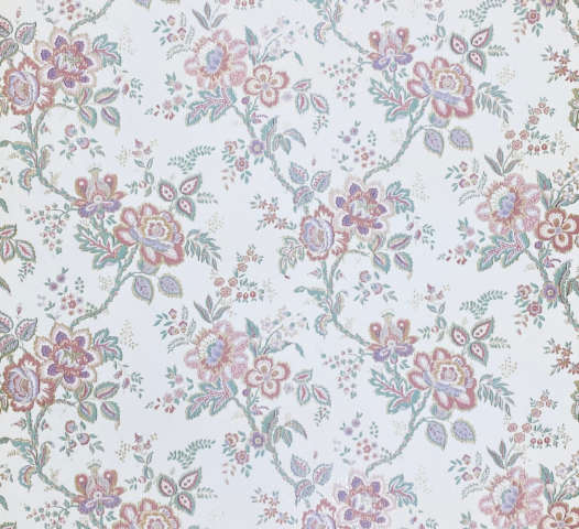 Violet Floral Wallpaper Silver Accents