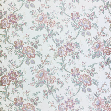 Violet Floral Wallpaper Silver Accents 1