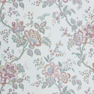 Violet Floral Wallpaper Silver Accents 3