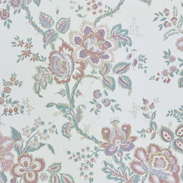 Violet Floral Wallpaper Silver Accents 4