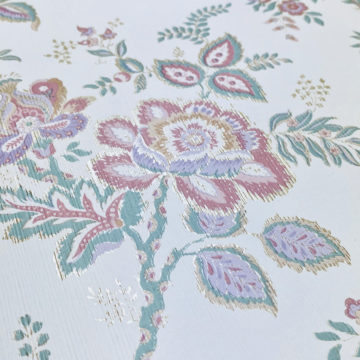 Violet Floral Wallpaper Silver Accents 6
