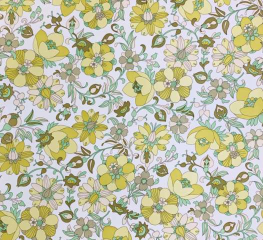 Vintage green floral wallpaper 4