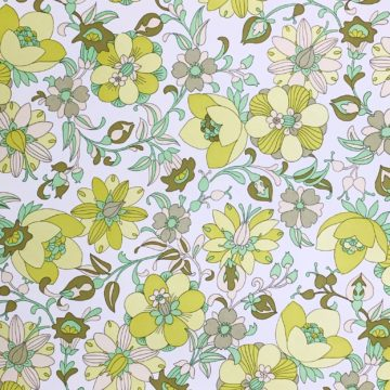 Vintage green floral wallpaper 2 1