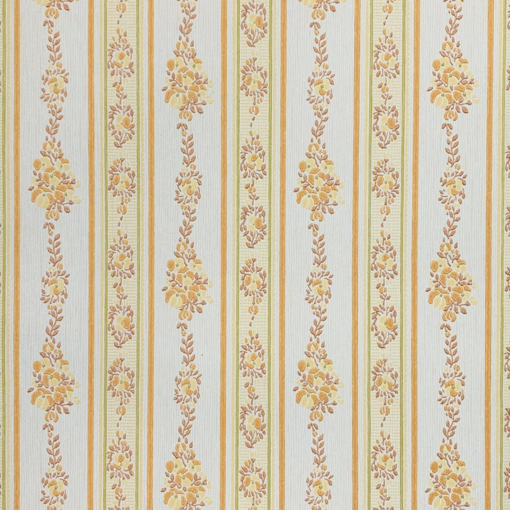 Yellow striped wallpaper