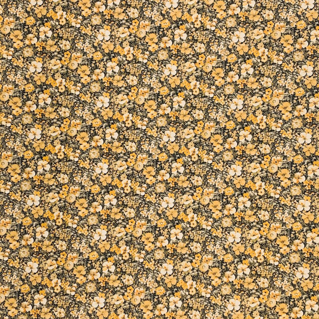 Yellow floral wallpaper 3
