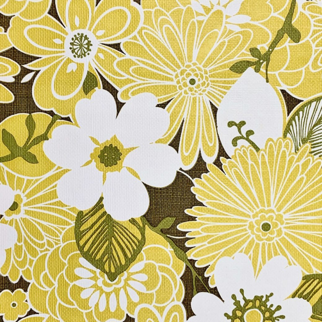 Yellow floral wallpaper 4