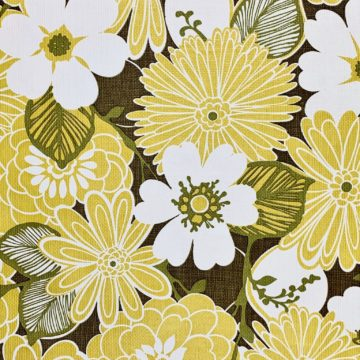 Yellow floral wallpaper 2