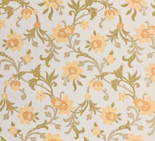 Vintage blue floral wallpaper 5