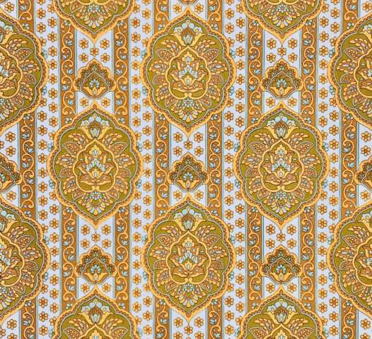 Yellow medallion wallpaper 3